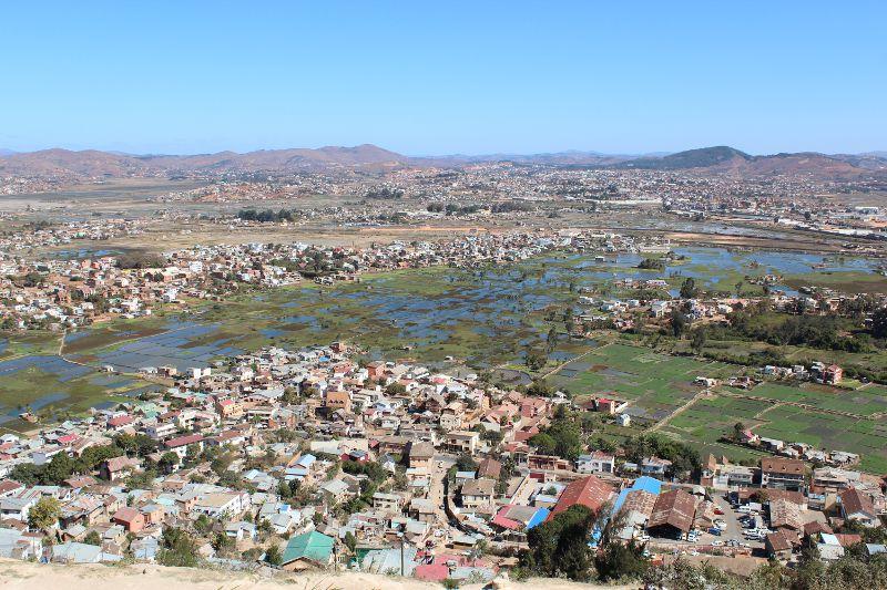 Udsigt over Antananarivo